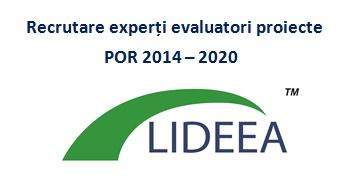 Recrutare experți evaluatori proiecte POR 2014 – 2020