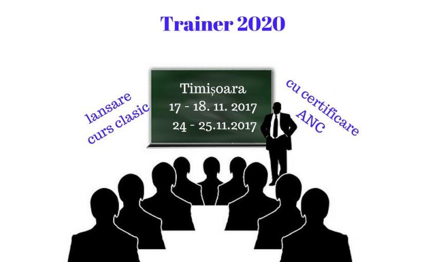 Trainer 2020 – cu certificare ANC
